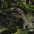 Utahraptor In A Prehistoric Forest by Kostyantyn Ivanyshen