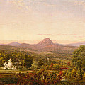 Autumn Landscape Sugar Loaf Mountain. Orange County  New York by Jasper Francis Cropsey