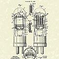 Vacuum Tube 1929 Patent Art by Prior Art Design