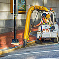 Vacuuming The Sidewalk by Guy Whiteley