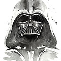 Darth Vader Watercolor by Olga Shvartsur