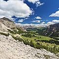 Val Badia From Gardena Pass by Antonio Scarpi