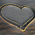 Valentine's Day - Sand Heart by Daliana Pacuraru