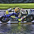 Valentino Rossi At Indy by Blake Richards