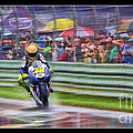 Valentino Rossi Fans Line The Fence by Blake Richards