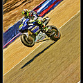 Valentino Rossi Wheely Down The Corkscrew by Blake Richards