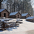 Valley Forge Cabins After A Snow by Michael Porchik