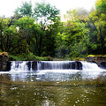 Valley Forge Pa - Valley Creek Waterfall  by Bill Cannon