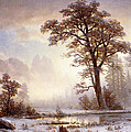 Valley Of The Yosemite Snow Fall by Albert Bierstadt