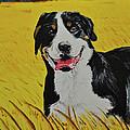 Van Gogh And Mountain Dog by Ruben Barbosa