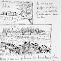 Van Gogh Letter, 1888 by Granger