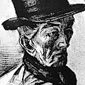 Man With Top Hat by Vincent Van Gogh