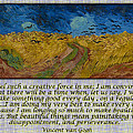 Van Gogh Motivational Quotes - Wheatfield With Crows II by Jose A Gonzalez Jr