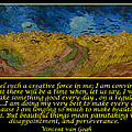 Van Gogh Motivational Quotes - Wheatfield With Crows by Jose A Gonzalez Jr