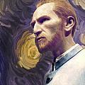 Van Gogh Portrait by Gina Dsgn