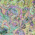 Van Gogh Style Abstract I by Debbie Portwood