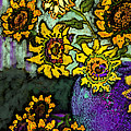 Van Gogh Sunflowers Cover by Carol Jacobs