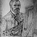 Van Goghs Self Portrait Painting Placed In His Room In Arles France by Jose A Gonzalez Jr