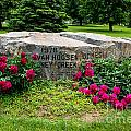 Van Hoosen Jones Stoney Creek Entrance Stone by Grace Grogan