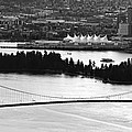 Vancouver Bc City Skyline And Lions Gate Bridge by Jit Lim