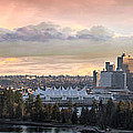 Vancouver Bc City Skyline And Stanley Park by Jit Lim