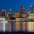 Vancouver Bc City Skyline Reflection by Jit Lim