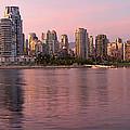 Vancouver Bc Skyline Along False Creek At Dusk by Jit Lim