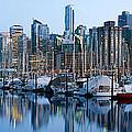 Vancouver Bc Skyline Along False Creek by Jit Lim