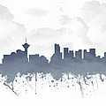Vancouver British Columbia Skyline - Blue 03 by Aged Pixel