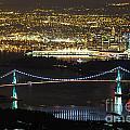Vancouver Nightlights by Brigitte Mueller
