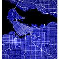 Vancouver Street Map - Vancouver Canada Road Map Art On Colored  by Jurq Studio
