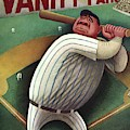 Vanity Fair Cover Featuring Babe Ruth by Miguel Covarrubias
