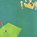 Vanity Fair Cover Featuring Men Playing Golf by John Held Jr