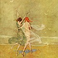 Vanity Fair Cover Featuring Two Nymphs by Warren Davis