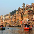 Varanasi From The Ganges River by Amanda Stadther