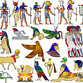 Various Themes Of Ancient Egypt by Michal Boubin