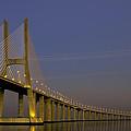 Vasco Da Gama Bridge In The Moonlight by Alexandre Martins