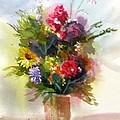 Vase Of Flowers by Larry Hamilton