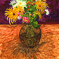 Vase Of Flowers by Phyllis Brady