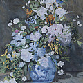 Vase Of Flowers - Reproduction by Masami Iida