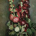 Vase Of Hollyhocks by Vincent van Gogh