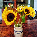 Vase Of Sunflowers by Susan Savad