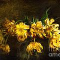 Vase Of Yellow Tulips by Ann Garrett
