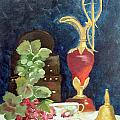 Vase With Grapes by Vickie Black