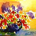 Vase With Multicolored Flowers by Cristina Stefan