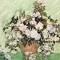 Vase With Pink Roses by Vincent Van Gogh