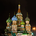 Vasily The Blessed Cathedral At Night - Featured 3 by Alexander Senin
