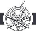Vector Illustration Of A Black Skull by Frostyara