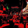 Vegas At Night by Romuald  Henry Wasielewski