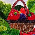 Veges Basket by Anna Baker